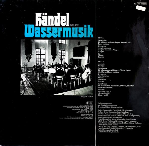 ヘンデル:水上の音楽                                    ヘンデル:水上の音楽