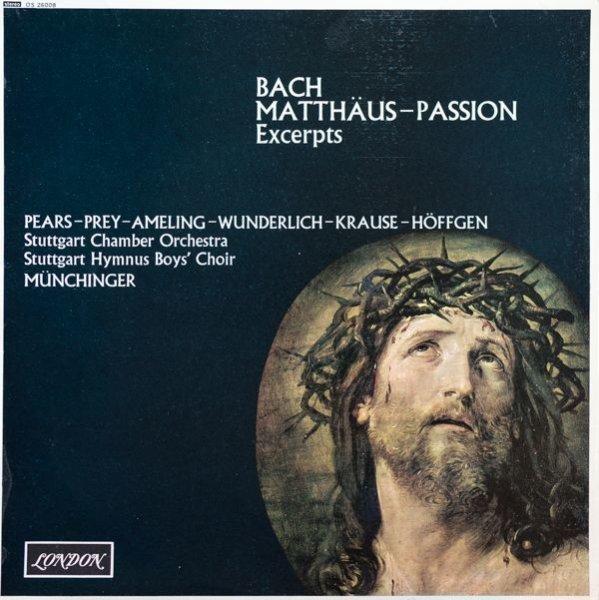画像1: カール・ミュンヒンガー指揮/ バッハ:マタイ受難曲 BWV244 (1)