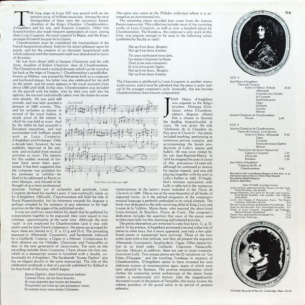 エドワード・スミス(harps)/ジャン=アンリ・ダングルベール:クラヴサン曲集他                                     エドワード・スミス(harps)/ジャン=アンリ・ダングルベール:クラヴサン曲集他