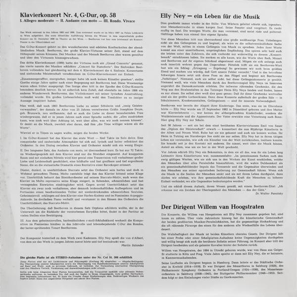 エリー・ナイ(pf)/ベートーヴェン:ピアノ協奏曲第4番ト長調作品58                                    エリー・ナイ(pf)/ベートーヴェン:ピアノ協奏曲第4番ト長調作品58