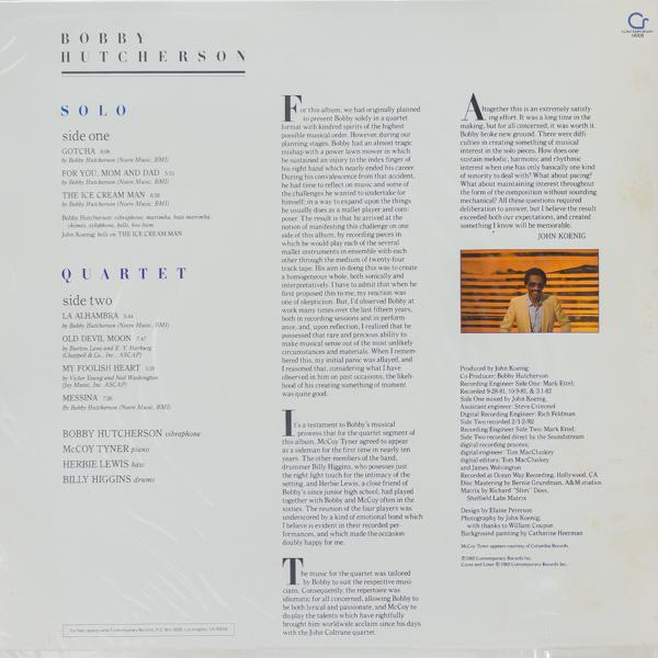 ボビー・ハッチャーソン(vib)/SOLO&QUARTET                                     ボビー・ハッチャーソン(vib)/SOLO&QUARTET